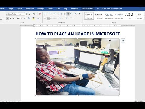 How To Place An Image In Microsoft Word - Image Placeholders In Microsoft Word 2019 (for Windows)