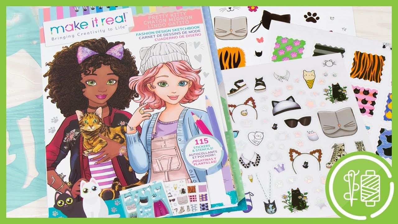 Pretty Kitty Fashion Design Sketchbook By Make It Real Item 3204 Youtube