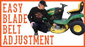 Murray 46 inch deck belt ajustment - YouTube