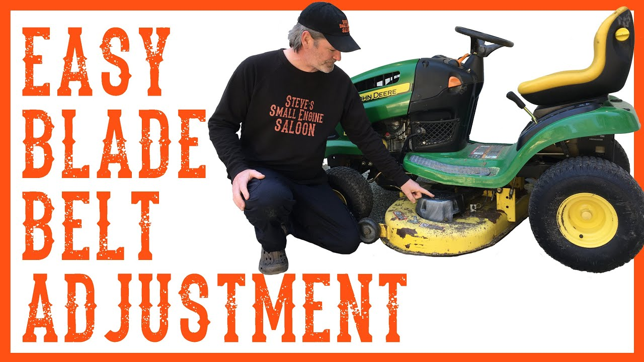 John Deere La110 Engine Diagram How To Adjust The Belt Tension On A Riding Mower Youtube