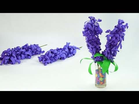 How to Make Swirly Crepe Paper Hyacinth Flowers - Easy Flower Craft Tutorial