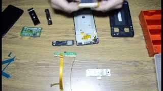 Замена дисплейного модуля в телефоне Philips W6610 Ремонт (Часть 2)/Replacing the display module.