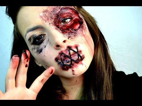 Halloween zombie girls make up tutorial! - YouTube