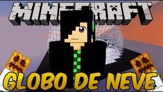 Minecraft Mapas(NATAL) - Globo de neve - Minecraft num globo O_o
