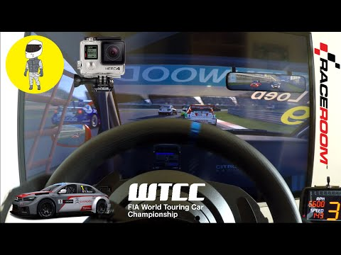 RaceRoom - Citroën C Elysee WTCC @ Shanghai Ciruit (T300RS, GoPro Hero4 Silver, DashMeterPro)