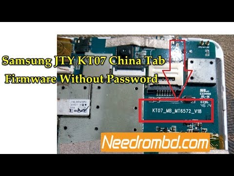 JTY KT07 China Tab Firmware Download Free