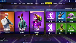 EMPRESS | WILD CARD | GROWLER | ELECTRO SHUFFLE; Item Shop in FORTNITE #March15th
