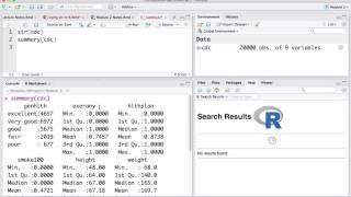 Getting a summary of a Dataframe in R