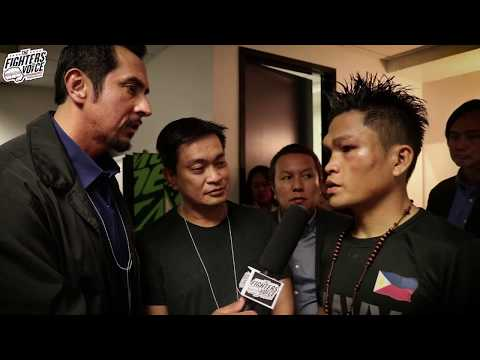 Jerwin Ancaja (Post-fight) with Alex Santiago