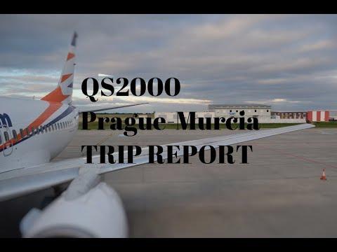 TRIP REPORT QS2000 Prague-Murcia, San Javier | Boeing 737-700 OK-SWW