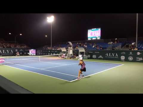 A.Barty vs N.Hibino Court Level | FINAL WTA Kuala Lumpur 2017