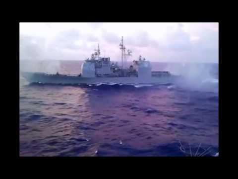 US Navy Cruiser Fires all Types of Guns (USS Vicksburg,  CG-69) - 2011