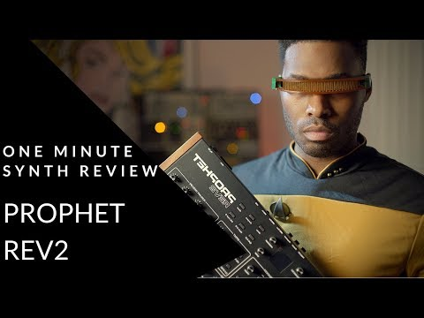 ONE MINUTE SYNTH REVIEW!!! Ep. 17 Dave Smith Instruments Prophet REV2 Desktop (analog synthesizer)
