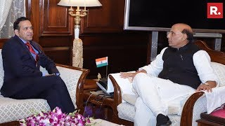 Pulwama Terror Attack: Indian Envoy To Pakistan, Ajay Bisaria Meets Home Minister Rajnath Singh