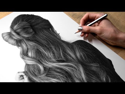 Drawing Photorealistic Hair With Graphite (Missy Sue)