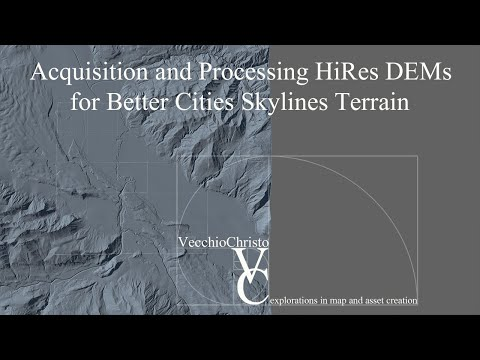 Heightmap Tutorial for Cities Skylines : Downloading Elevation Data |