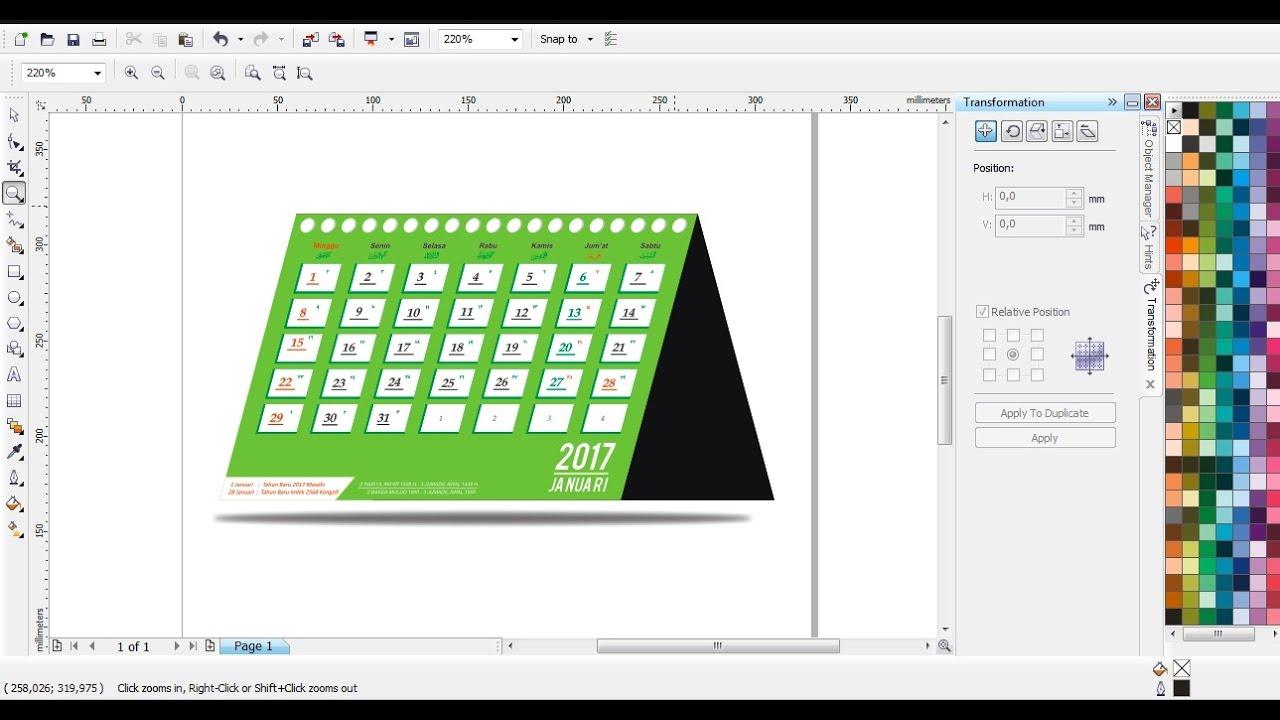 Cara Membuat Kalender Meja Dengan CorelDRAW | Belajar CorelDRAW - YouTube