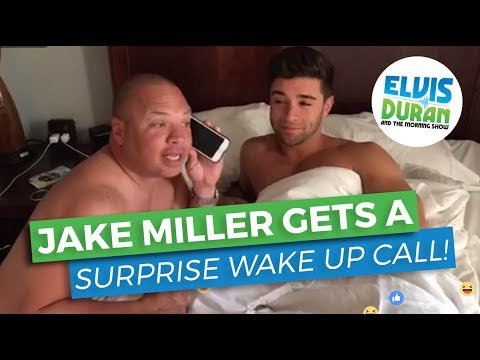 Jake Miller Gets an Unexpected Guest in His Hotel Room! | Elvis Duran Exclusive