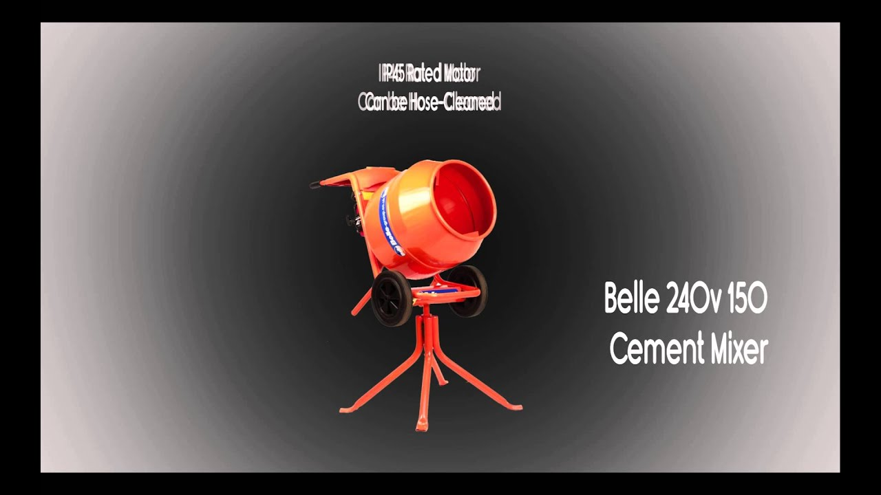 Belle 240v 150 cement mixer youtube cheapraybanclubmaster Image collections