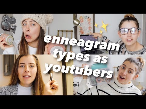 enneagram types as youtubers
