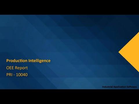 PRI 10040 : PRIT03 - OEE Report