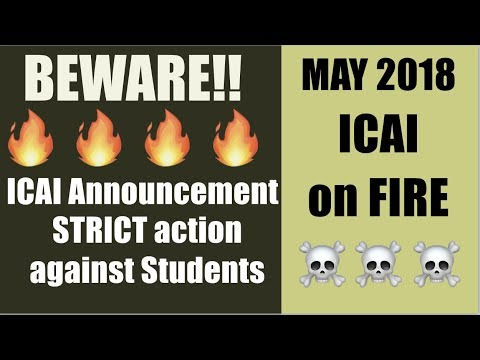Very Important ICAI Updates | STRICT action against Students | I Support ICAI