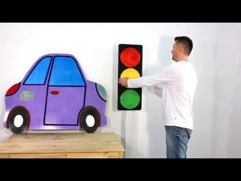 Как сделать из бумаги светофор
