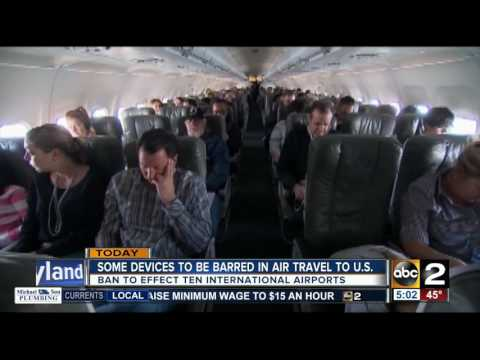 Select electronic devices to be banned in air travel to U.S.