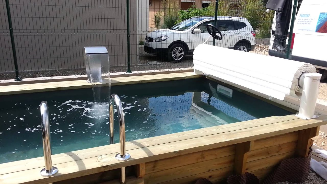 piscine en bois avec cascade vercors piscine youtube. Black Bedroom Furniture Sets. Home Design Ideas