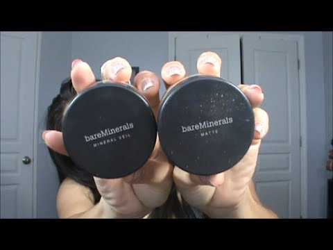 Review and Demo Bare Minerals Matte Foundation and Mineral Veil
