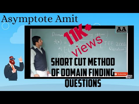 JEE Mains||Shortcut Method Of Domain Question||Solve it in 20 Seconds||By Amit Kumar Gupta