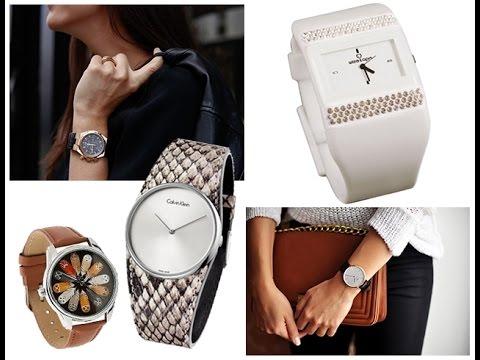 Женские часы на показе моды 2017