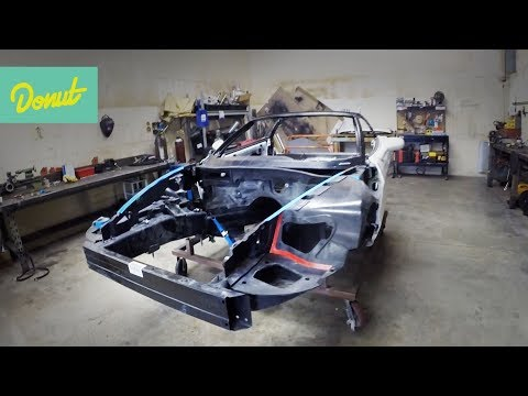 Drift Corvette Build - EP2: Building a Roll Cage | Donut Media
