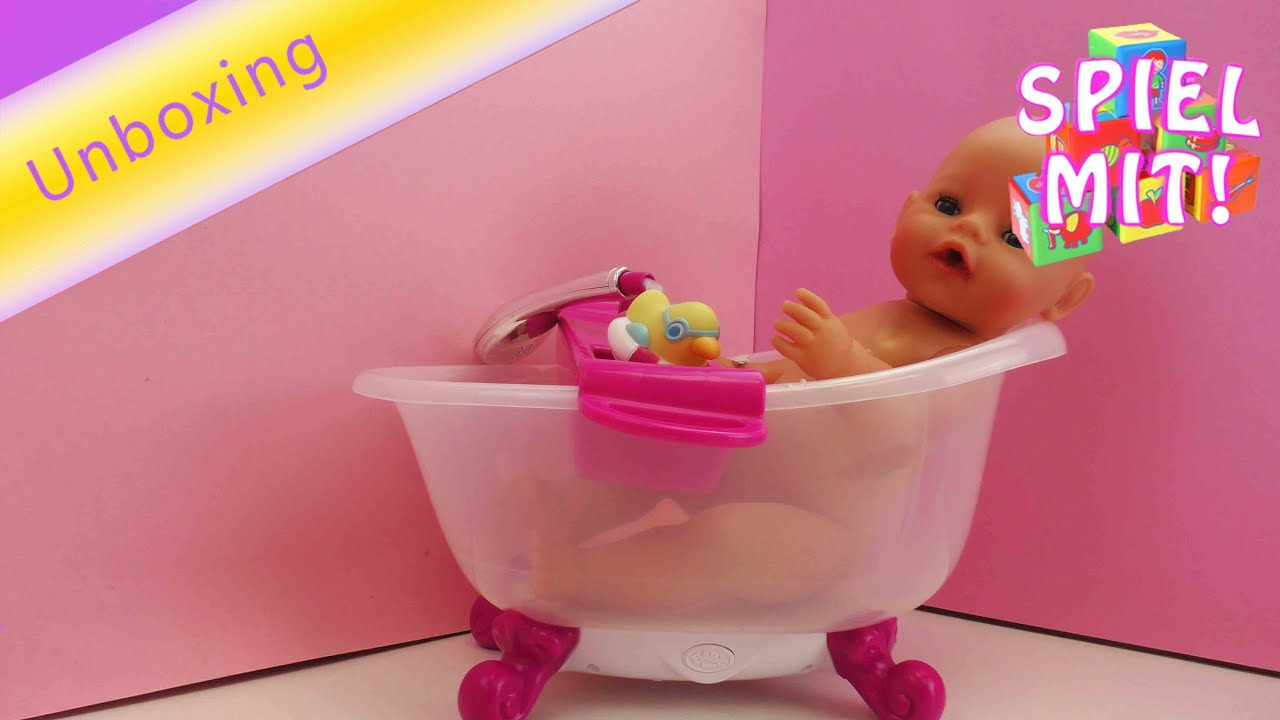 beautiful baby born interactive badewanne unboxing baby baden spielzeug youtube with spielzeug baby