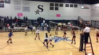 Freshman volleyball highlights (jersey number 17) (middle blocker and outside hitter)