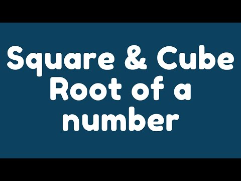 How To Calculate Square Root And Cube Root Of A Number In Java