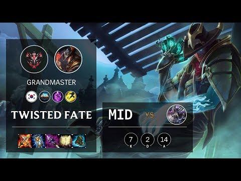 Twisted Fate Mid vs Kassadin - KR Grandmaster Patch 10.8