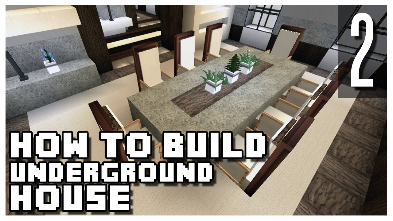 How To Make A Underground House How To Build An Underground House In Minecraft Part 2 Youtube
