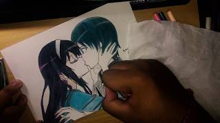 Speed Drawing - Utaha x Aki ( Saenai Heroine no Sodatekata )