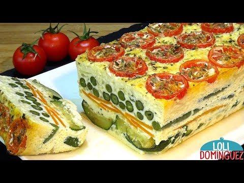 Receta de Pastel de verduras al horno, riquísimo y nutritivo - Recetas paso a paso - Loli Domínguez