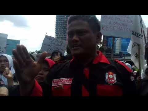 Tuntutan DKR Depok atas layanan kesehatan bagi warga miskin di Depok, demo d pemkot depok, selasa 23