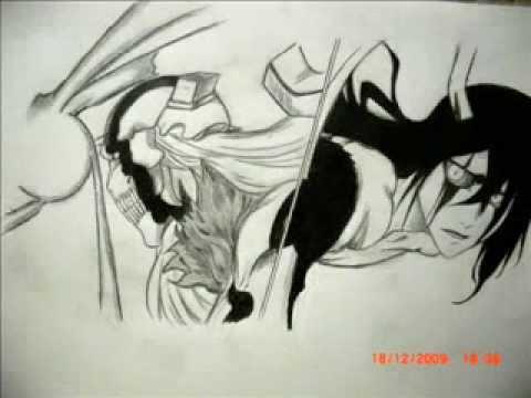 Drawing of Hollow Ichigo( Vasto Lorde) vs Ulquiorra ...