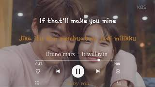 Bruno mars - it will rain (lyrics ...