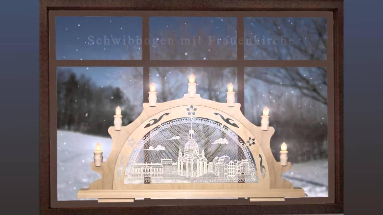 Stimmungsleuchter Frauenkirche  LED45cm Festlicher Schwibbogen