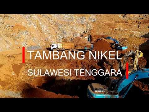 Excavator di Tambang Nikel Sulawesi Utara