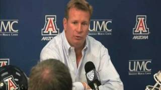 Mike Stoops Press Conference: Nick Foles Injury