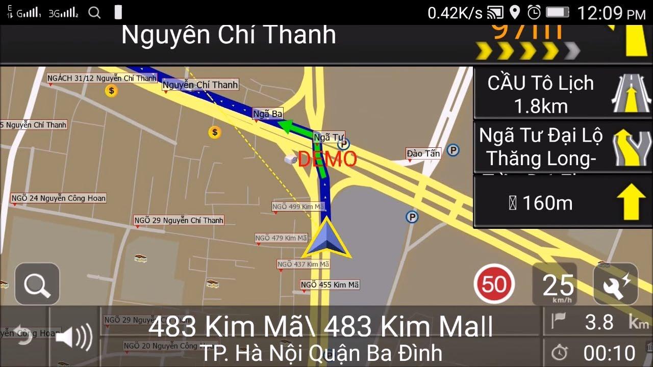 Dùng thử phần mềm dẫn đường VietMap X10 cho Android