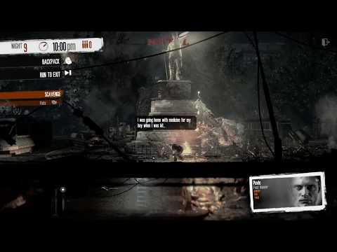 This War of Mine - Sniper Junction - How to easily avoid the sniper with Pavle