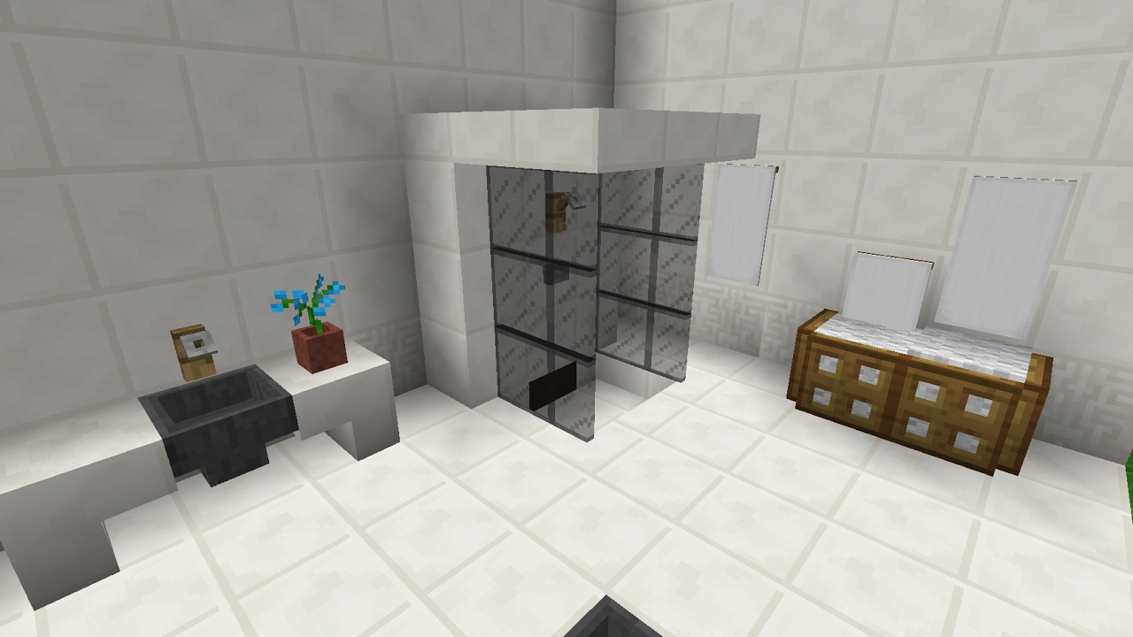 comment faire une douche minecraft youtube. Black Bedroom Furniture Sets. Home Design Ideas