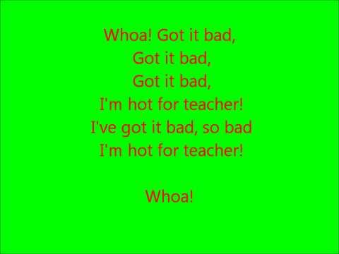 Glee - Hot for teacher - Lyrics
